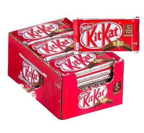kitkat 4 fingers box